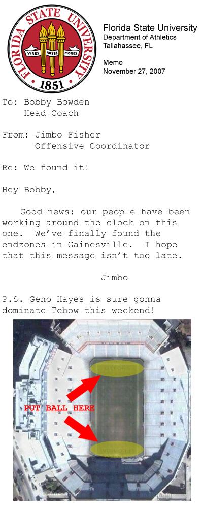 Memo to Bobby Bowden