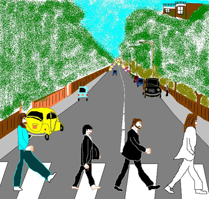 Abbey Road in MS Paint